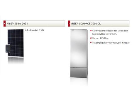 NIBE Energy Systems - Solvärmeprodukter
